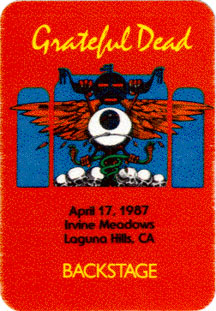 April 17, 1987 Irvine Meadows Pass