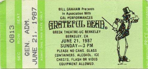 June 21, 1987 Greek Ticket