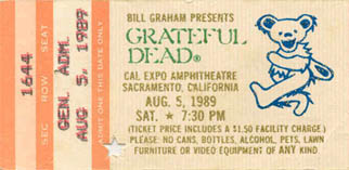 August 5, 1989 Cal Expo Pass