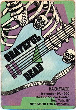 September 19, 1990 MSG Pass
